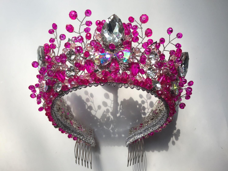 Розовая корона, Украшения для причесок, Москва,  Фото №1