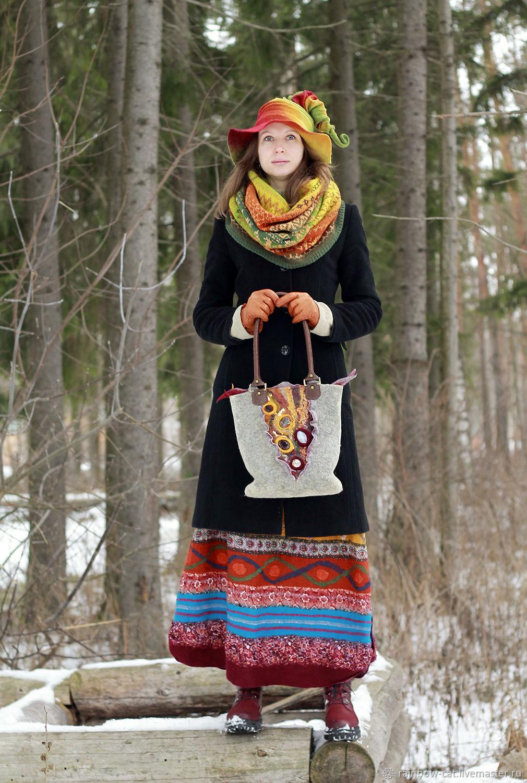 The bag felt 'treasures of the fairies', Classic Bag, Voronezh,  Фото №1