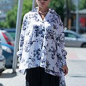 Одежда ручной работы. Ярмарка Мастеров - ручная работа Рубашка, Женская рубашка, Летняя рубашка, Рубашка асимметричная. Handmade.