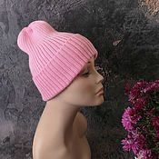 Аксессуары handmade. Livemaster - original item Women`s knitted hat, beanie, elastic band, pumpkin, fashion hat. Handmade.