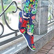 Обувь ручной работы. Ярмарка Мастеров - ручная работа кеды женские с вышивкой. Handmade.