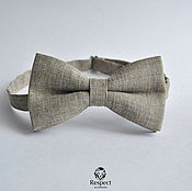 Аксессуары handmade. Livemaster - original item Tie Idyll / beige butterfly tie in the rustic style. Handmade.