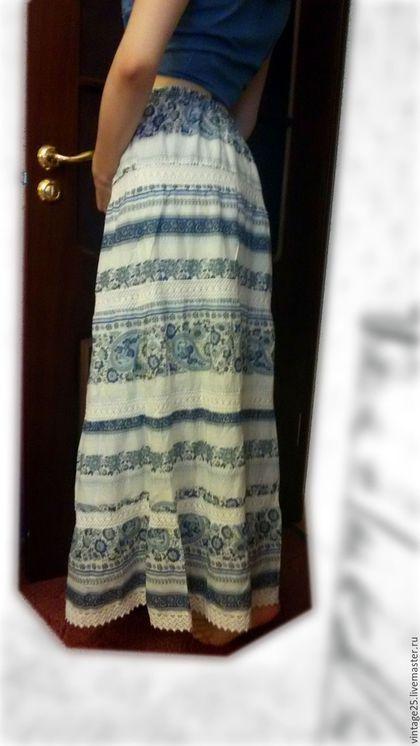 Одежда. Ярмарка Мастеров - ручная работа. Купить Красивая винтажная юбка Гжель Британский дом. Handmade. Комбинированный, винтажная юбка