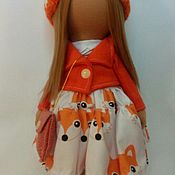 Куклы и игрушки ручной работы. Ярмарка Мастеров - ручная работа Куколка Лисичка. Handmade.