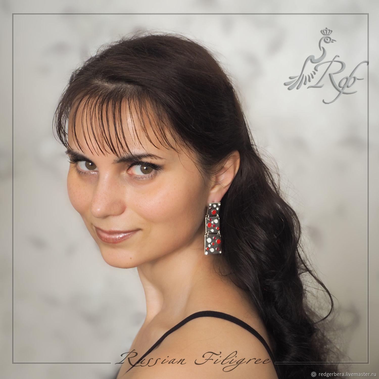 Set 'Karina' enamel, silvering 12 microns, Jewelry Sets, Kostroma,  Фото №1