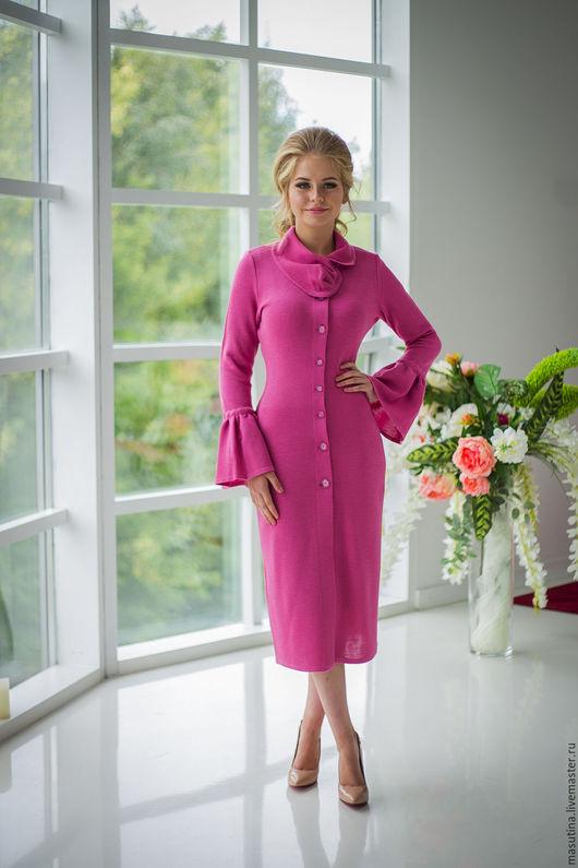 """Верхняя одежда ручной работы. Ярмарка Мастеров - ручная работа. Купить Пальто  """"Dama"""". Handmade. Фуксия, розовое пальто"""