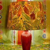 """Для дома и интерьера ручной работы. Ярмарка Мастеров - ручная работа Светильник """"Бабье Лето"""" с валяным абажуром. Handmade."""