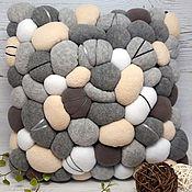 Для дома и интерьера handmade. Livemaster - original item Decorative pillow, grey-beige. Handmade.