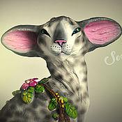 Для дома и интерьера handmade. Livemaster - original item Buster, a Siamese cat from a rainy garden of eve. Handmade.