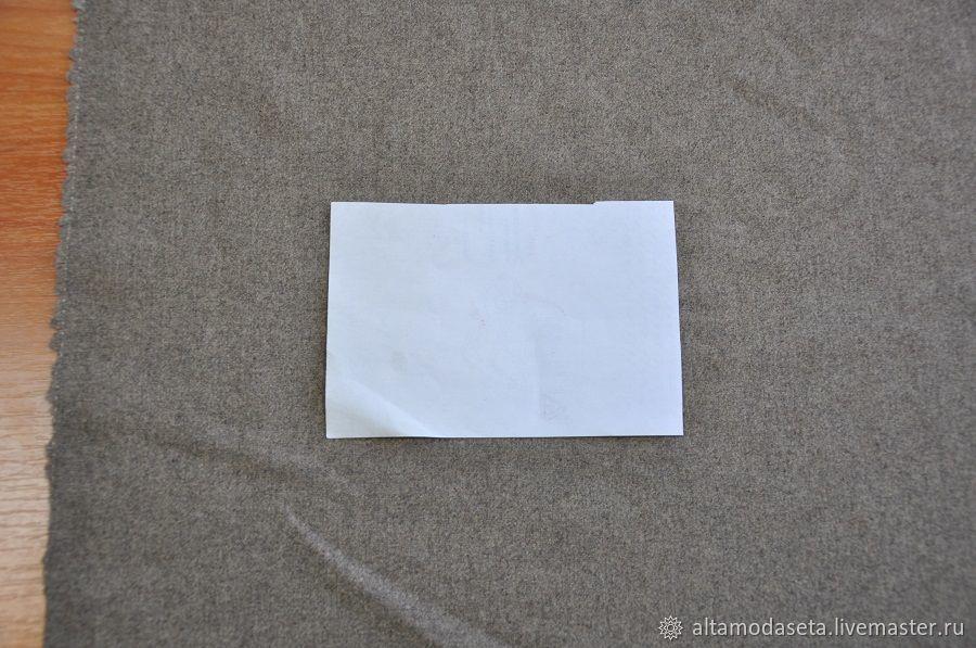 Фланель стрейч шерсть серого цвета, Ткани, Москва,  Фото №1