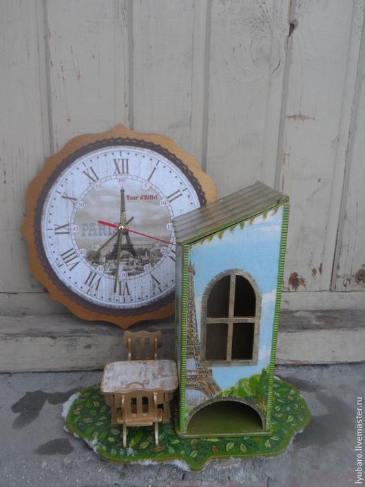 Кухня ручной работы. Ярмарка Мастеров - ручная работа. Купить ПАРИЖ. КАФЕ. ИСТОРИЯ  – Интерьерный чайный домик и часы. Handmade.
