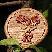 """Сувениры и подарки ручной работы. Ярмарка Мастеров - ручная работа Зеркальце """"Букетик роз"""". Handmade."""