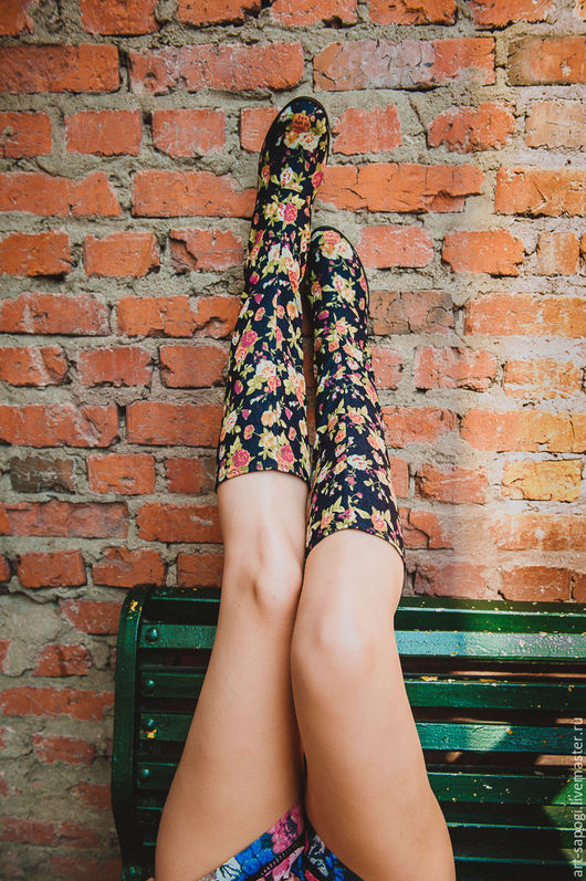 Обувь ручной работы. Ярмарка Мастеров - ручная работа. Купить Летние сапоги 5-302 (ВЧ). Handmade. Летние сапоги