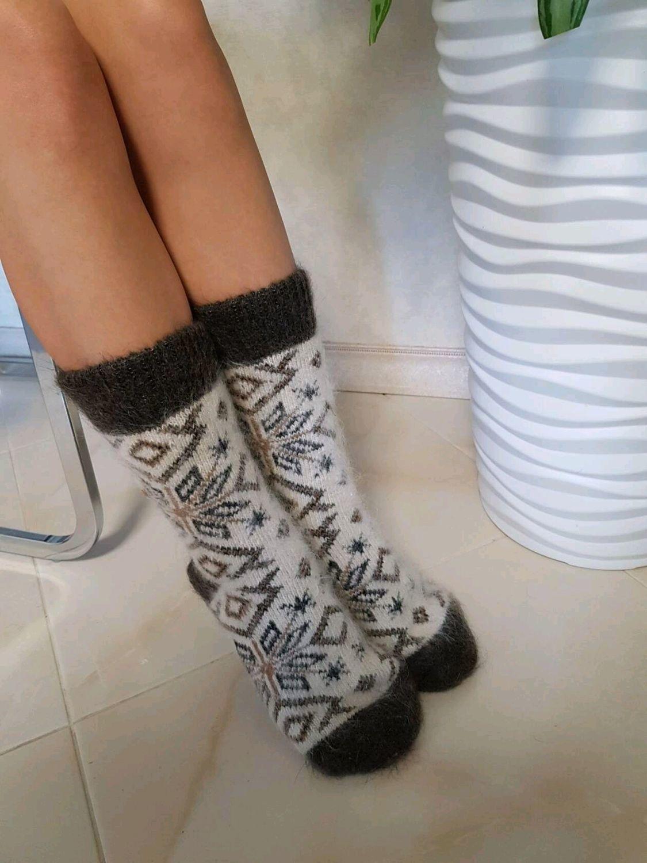 Носки вязаные теплые Носки пуховые женские Носки зимние из пуха, Носки, Волгоград,  Фото №1