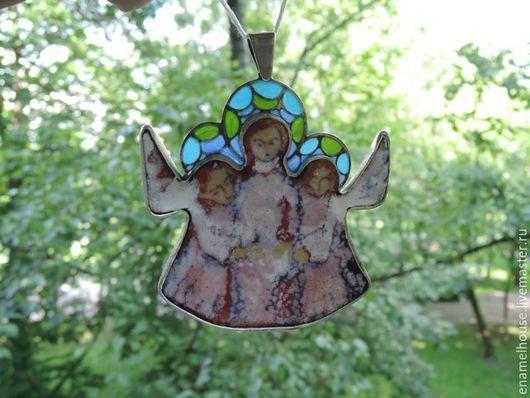"""Кулоны, подвески ручной работы. Ярмарка Мастеров - ручная работа. Купить Кулон """"3 Ангела"""". Handmade. Разноцветный, lile"""