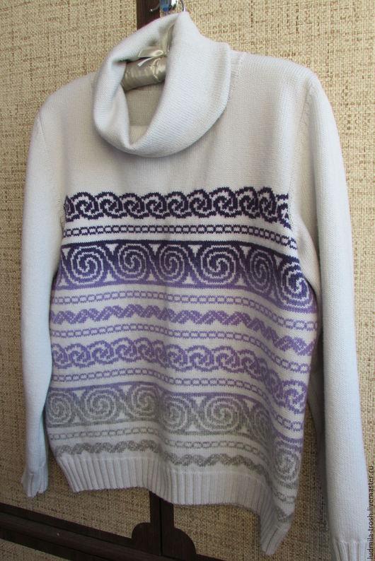 Кофты и свитера ручной работы. Ярмарка Мастеров - ручная работа. Купить свитер жаккардовый из шерсти Кауни. Handmade. Комбинированный