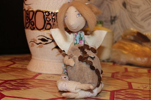 Человечки ручной работы. Ярмарка Мастеров - ручная работа. Купить Кофейная фея. Handmade. Кукла ручной работы, кофейный сувенир