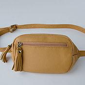 Сумки и аксессуары handmade. Livemaster - original item Women`s leather waist bag Holly. Handmade.