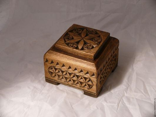 Шкатулки ручной работы. Ярмарка Мастеров - ручная работа. Купить Шкатулка деревянная резная. Handmade. Серый, шкатулка подарочная, для хранения