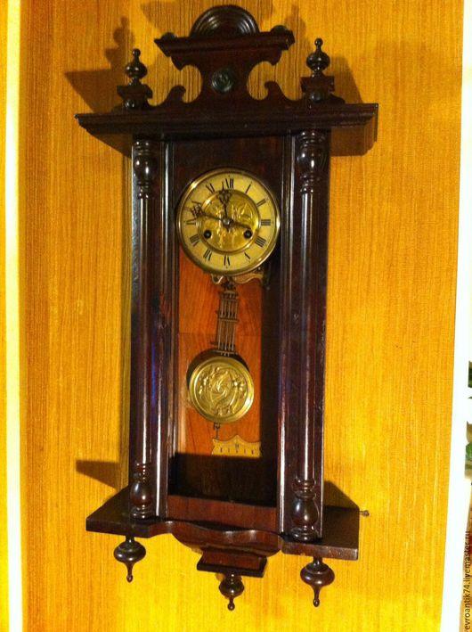 Винтажные предметы интерьера. Ярмарка Мастеров - ручная работа. Купить Старинные механические настенные часы Германия. Handmade. Коричневый