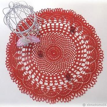 Для дома и интерьера ручной работы. Ярмарка Мастеров - ручная работа Вязаная ажурная салфетка. Handmade.