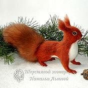 Куклы и игрушки handmade. Livemaster - original item Red squirrel – toy interior / protein felted wool /felt. Handmade.