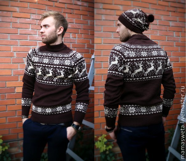1673b819f72 Свитер с оленями – купить в интернет-магазине на Ярмарке Мастеров с ...