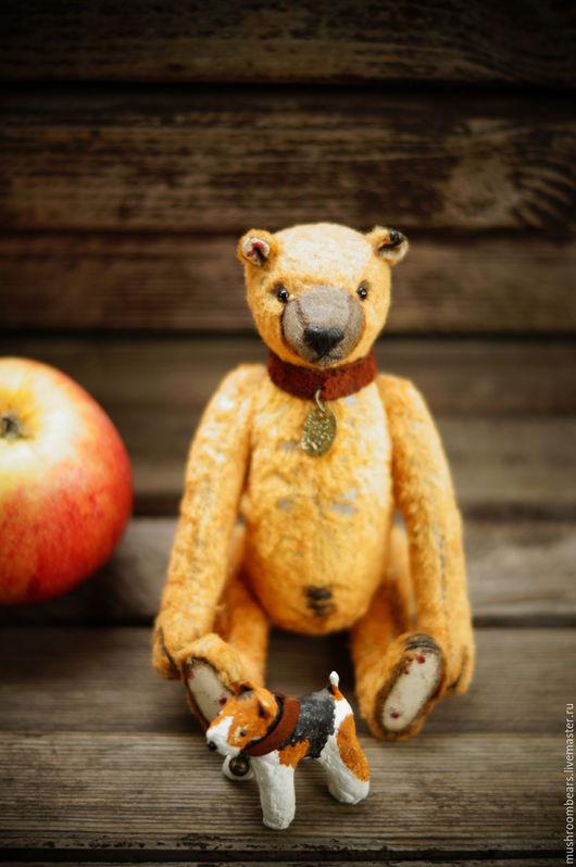 Мишки Тедди ручной работы. Ярмарка Мастеров - ручная работа. Купить тедди мишка Тимошка и его друг Тотошка. Handmade.