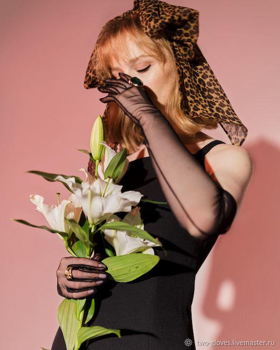Черные длинные перчатки, Перчатки, Санкт-Петербург,  Фото №1