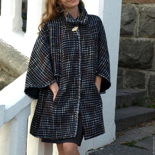Верхняя одежда ручной работы. Ярмарка Мастеров - ручная работа. Купить Кейп пальто с крылышками. Handmade. Комбинированный, мода, кейп