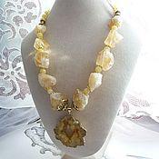 Украшения handmade. Livemaster - original item Necklace citrine.. Handmade.