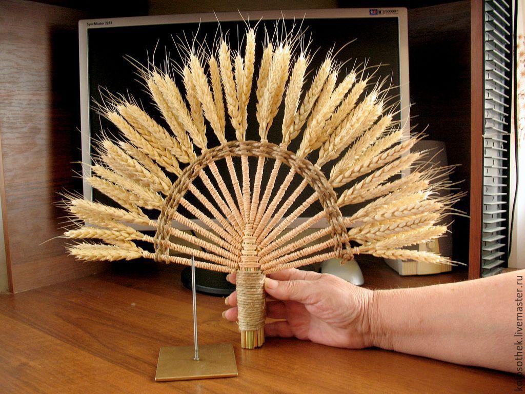 Поделка колос пшеницы своими руками 125