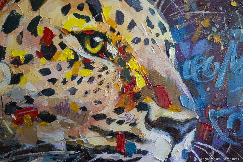 Картина маслом леопард. Картина. Купить картину маслом. Картины
