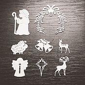 Украшения для цветочных горшков ручной работы. Ярмарка Мастеров - ручная работа Вырубка: Рождественская. Handmade.