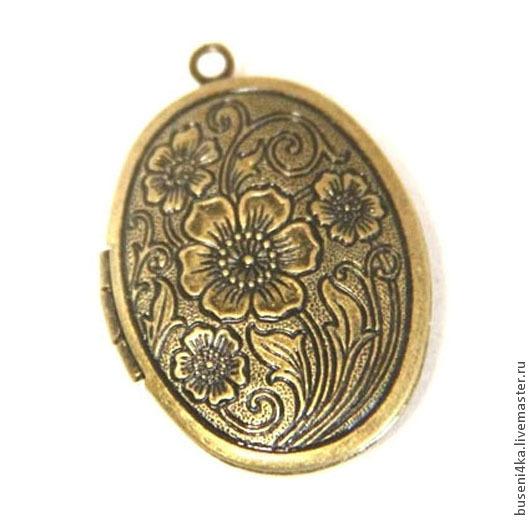Для украшений ручной работы. Ярмарка Мастеров - ручная работа. Купить Медальон Цветы, античная бронза (1шт). Handmade.