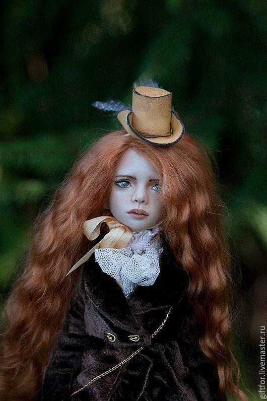 Коллекционные куклы ручной работы. Ярмарка Мастеров - ручная работа. Купить Виктория. Фарфоровая шарнирная кукла. Handmade. Коричневый, кукла