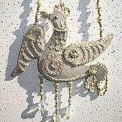 """Украшения ручной работы. Ярмарка Мастеров - ручная работа Кулон-подвеска """"Льняная птица"""". Handmade."""