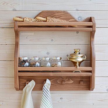 Мебель ручной работы. Ярмарка Мастеров - ручная работа Полка для специй Моана коричневая. Handmade.