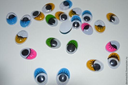 Цветные глазки с ресничками 12Х17мм 1 пара( 2 штуки)-10 руб. При заказе указывайте размер, количество пар и цвет!