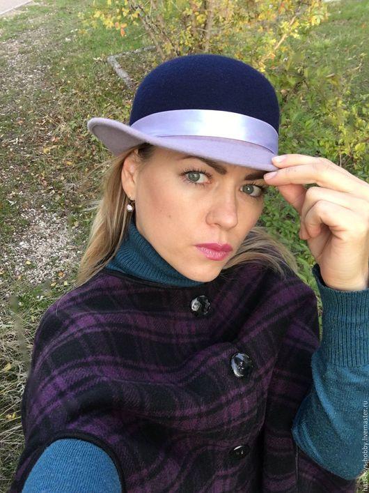 Шляпы ручной работы. Ярмарка Мастеров - ручная работа. Купить Фетровая шляпа двухцветная. Handmade. Шляпка двухцветная, шляпа женская