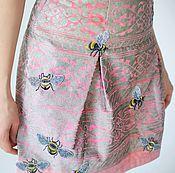 """Одежда ручной работы. Ярмарка Мастеров - ручная работа Винтаж.Модный костюм(юбка+футболка)с вышивкой""""Пчелы"""". Handmade."""
