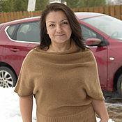 Одежда handmade. Livemaster - original item Cashmere sweater Cinnamon square. Handmade.