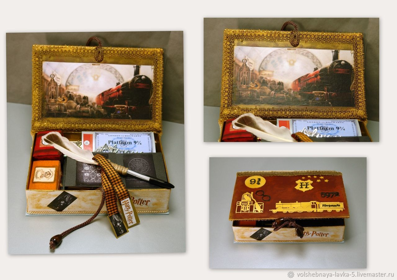 Gift box-box ' train of wizards', Packing box, St. Petersburg,  Фото №1