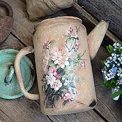 """Посуда ручной работы. Ярмарка Мастеров - ручная работа """"Цветущий сад"""" чайник для дома ,для дачи, в стиле Кантри. Handmade."""