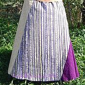 Одежда ручной работы. Ярмарка Мастеров - ручная работа Хлопковая юбка Золотой пэтчворк. Handmade.