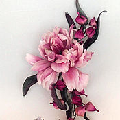 handmade. Livemaster - original item Brooch Tulip. Silk flowers, cloth flowers.. Handmade.
