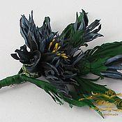 Украшения handmade. Livemaster - original item Brooch made of leather Decoration leather Vasilek leather Flowers. Handmade.