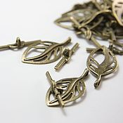 Материалы для творчества handmade. Livemaster - original item The lock toggle for jewelry art. 3-44A, bronze. Handmade.