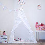 Для дома и интерьера ручной работы. Ярмарка Мастеров - ручная работа Вигвам детский из 100% хлопка Снежинки. Handmade.