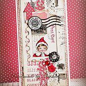 Открытки ручной работы. Ярмарка Мастеров - ручная работа Новогодние винтажные. Handmade.